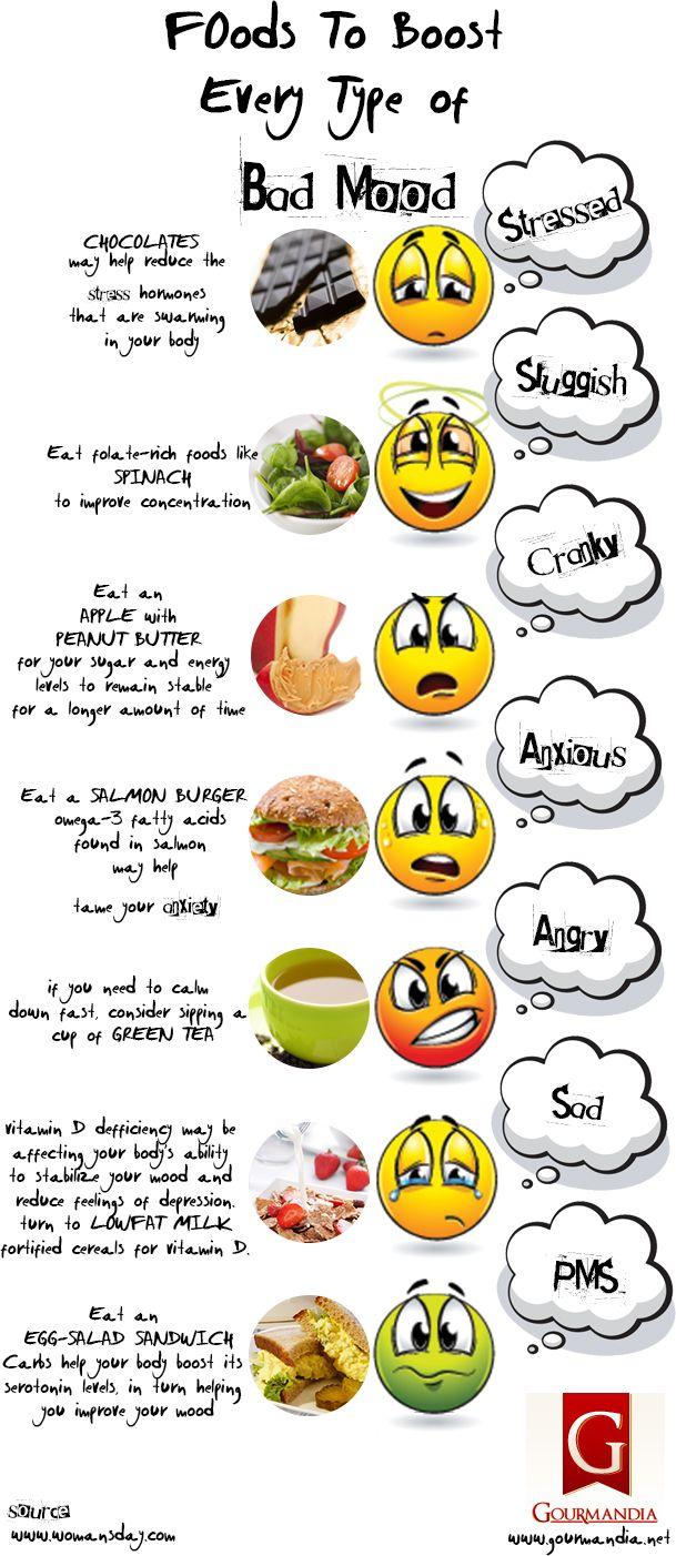 Alimentos que eliminan el mal humor :)