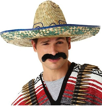 Private Island Party  - Mexican Pancho Costume Villa Mustache 9040, $2.00 - $2.49     It's easy to match your mood to your mustache with this Pancho Villa Mustache who was a hero during the Mexican Revolution in 1910 and a national hero to all Mexicans.    Goes great with almost any outfit, any party, joke, gag gift, or costume. Be unique, and respectful to the great man himself with our self-adhesive fake mustache. Easy on, after pulling the self adhesive backing and peels off easily.