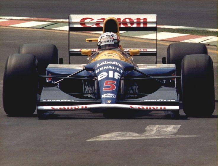 Nigel Mansell - Williams FW14B - Renault V10 - 1992 - Mexican GP (Autodrómo Hermanos Rodríguez) [1280x977]