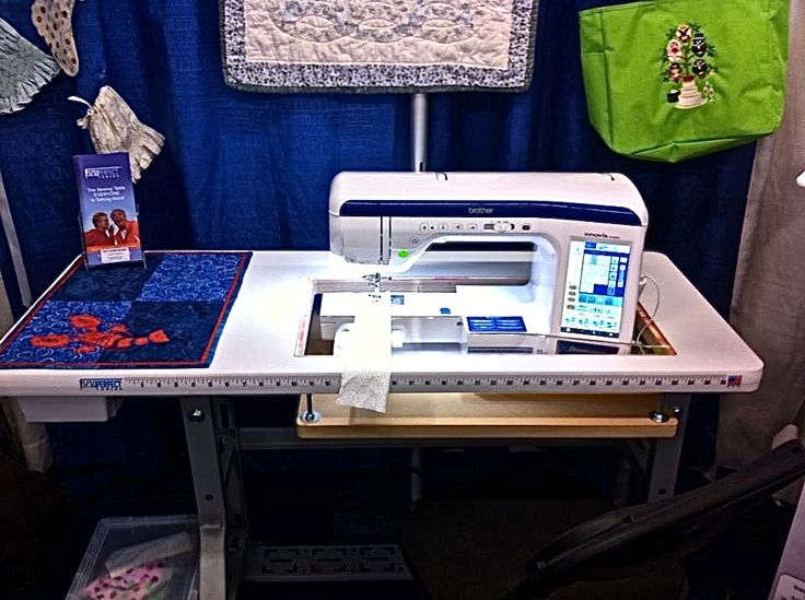 Sew Perfect Original Table shown with Brother VQ3000.