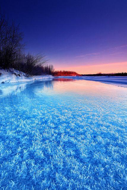Winter Blues, Alaska,USA photo by Wolfhorn's photostream