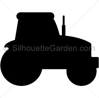 Tractor silhouette clip art. Download free versions of the image in EPS, JPG, PDF, PNG, and SVG formats at http://silhouettegarden.com/download/tractor-silhouette/