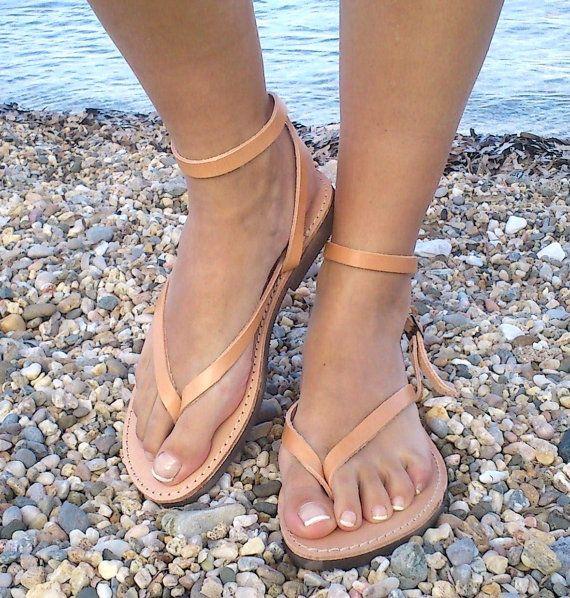 leather sandals AnkleStrap Leather Sandals by GreekSandalShop, $38.00