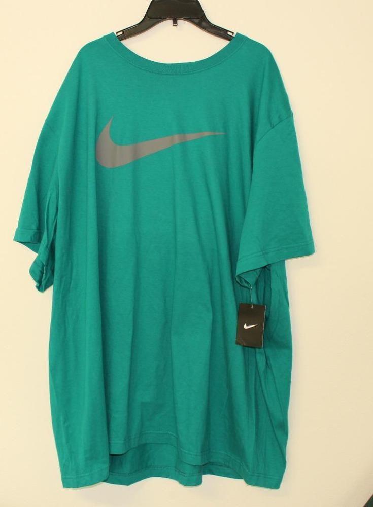 NWT NIKE MENS 4 XL XXXL NIKE SWOOSH LOGO T SHIRT GREEN BRAND NEW! #Nike #GraphicTee