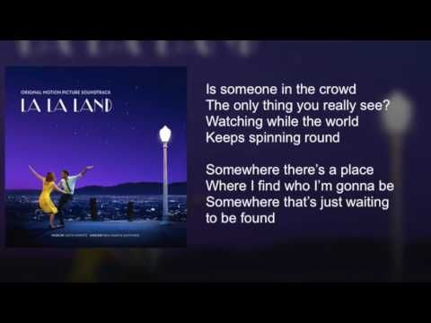 La La Land - Someone in the Crowd - Lyrics - YouTube