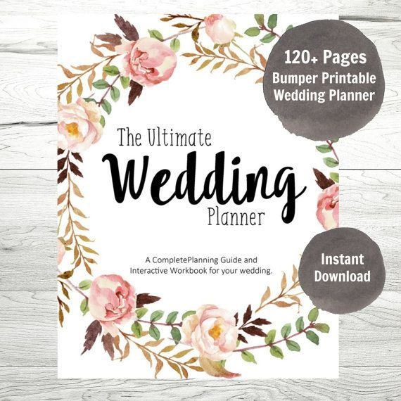 Wedding Planner Printable Wedding Binder DIY by WillowLanePaperie