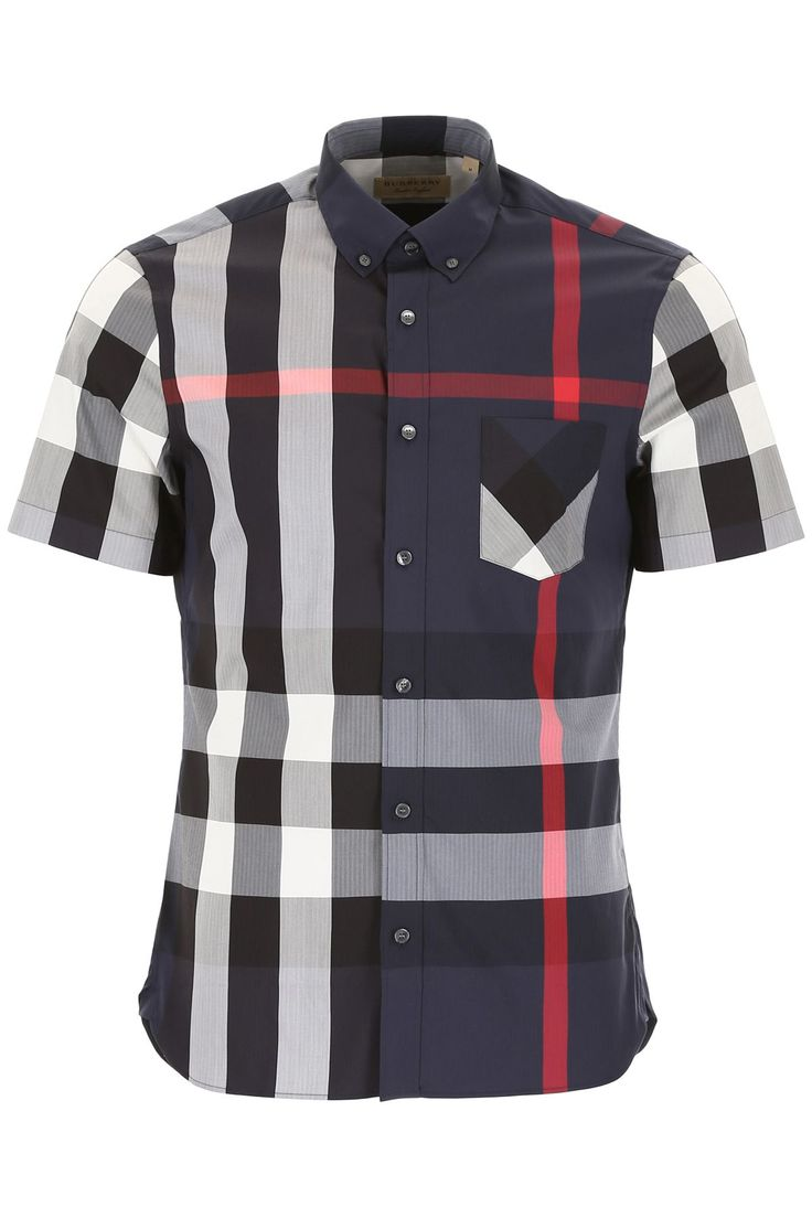 BURBERRY SHORT-SLEEVED THORNABY SHIRT. #burberry #cloth #