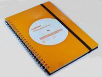 Notizbuch  aus Schallplatte Vinyl orange upcycling