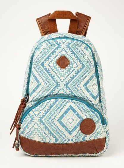 tribal and turquoise. Somebody decided to make a backpack just for me. Thank you.