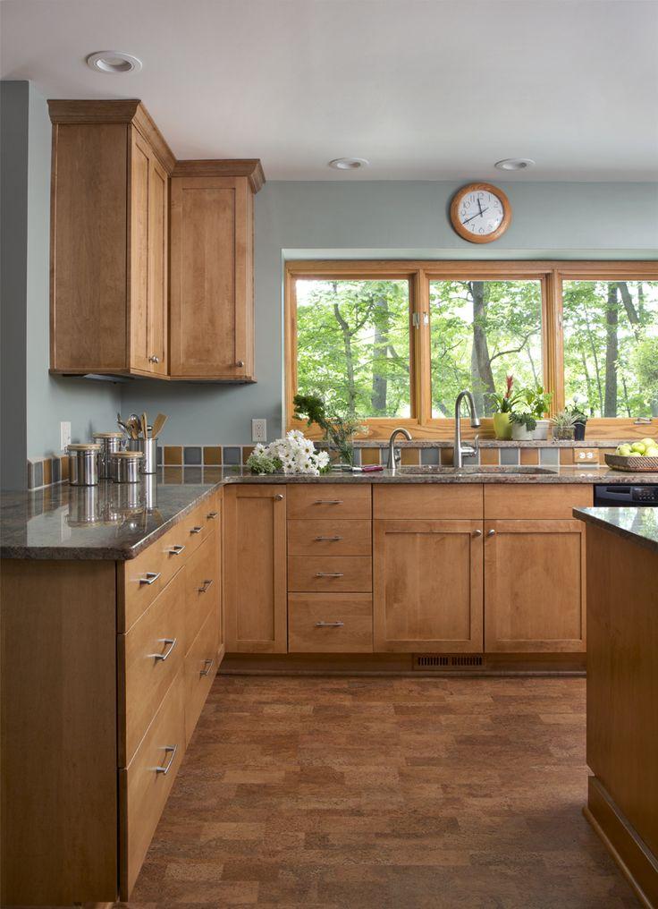 Photo courtesy of bj hohnke ksi designer dura alectra for Butternut kitchen cabinets