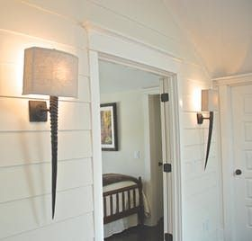 Gemsbok Horn Wall Sconce - Contemporary Organic Traditional Transitional Wall Lighting - Dering Hall