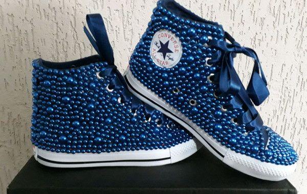 0040c362740 All star cano alto com perolas azul no Elo7