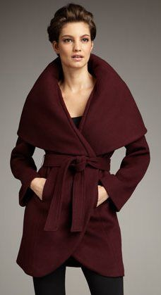 Elie Tahari Marla Wrap Coat