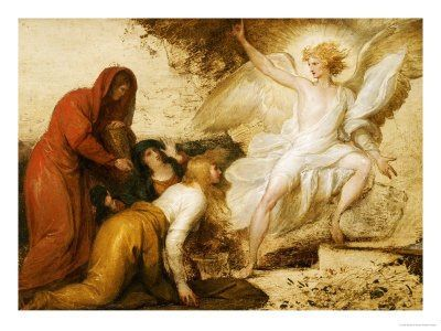 """""""Terrified, the women bowed to the ground. The Angel said to them, 'Why do you search for the Living One among the dead? He is not here; He has been raised up.'"""" (Lk. 24:5-6)"""