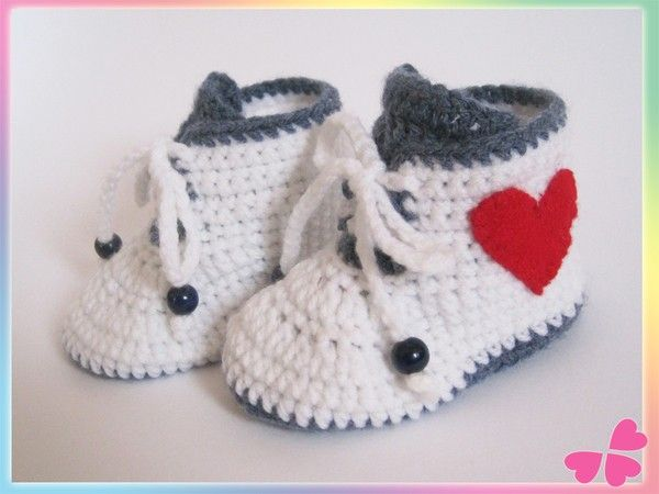 41 best Babyschuhe images on Pinterest | Knitted baby, Crochet baby ...
