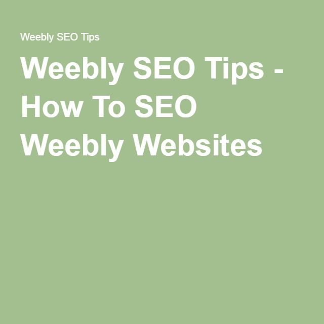 Weebly SEO Tips - How To SEO Weebly Websites ********************************************** This article was very informative, with clear instructions. I have set up my google analytics for Simply Our Society now and will see what happens!