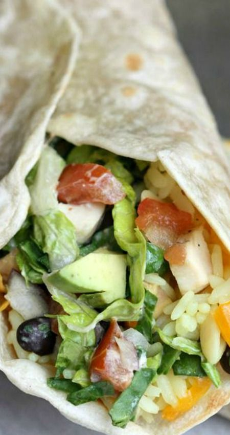 Southwest chipotle chicken wrap recipe