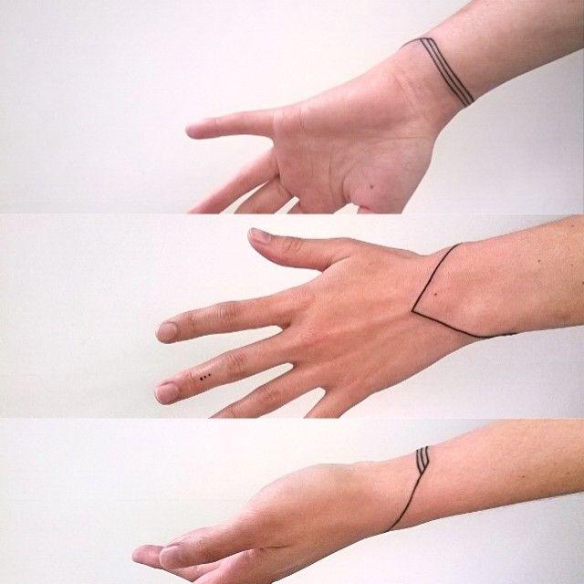 minimalist bracelet #tattoo #ink #minimalism #handtattoo