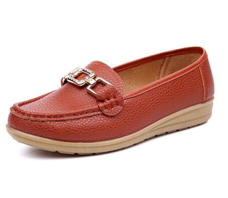 Мать свободного покроя обувь женская плоские пятки женские на плоской подошве платформы мягкие кожаные скольжению подошва мокасины мокасины 8