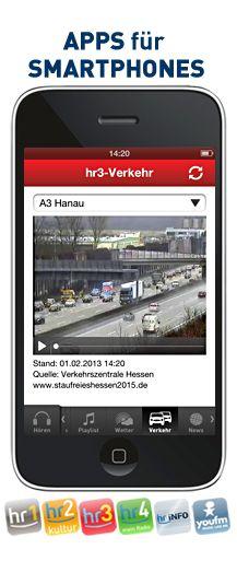 Verkehrskamera-Videos in der Hosentasche: Mit der Radio-Apps der hr-Hörfunkwellen