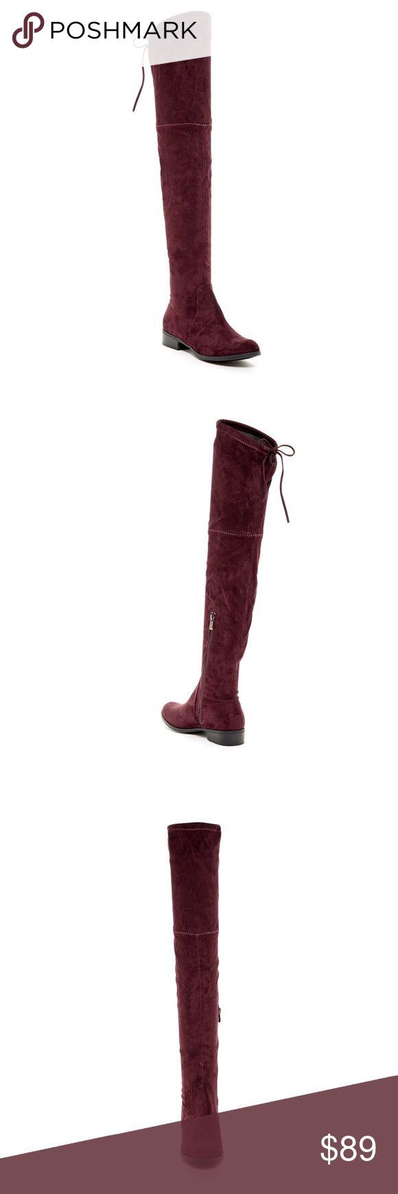 Catherine Malandrino Burgundy over the knee boots Catherine Malandrino Burgundy over the knee boots. Brand new never worn. Size 9 Catherine Malandrino Shoes Over the Knee Boots