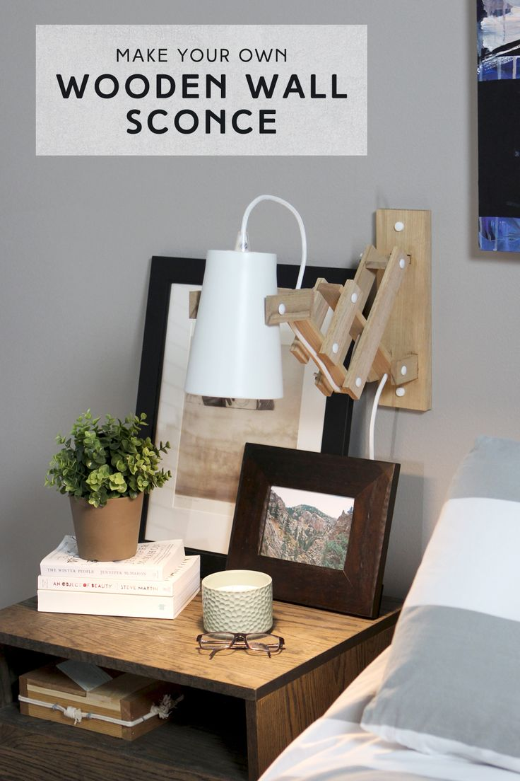 91 best | DIY Lighting | images on Pinterest | Night lamps ... for Diy Wall Sconce Shade  55nar