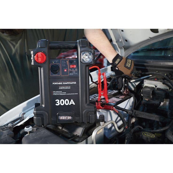 Ironton Portable Jumpstarter 300 Amp Jump Starters