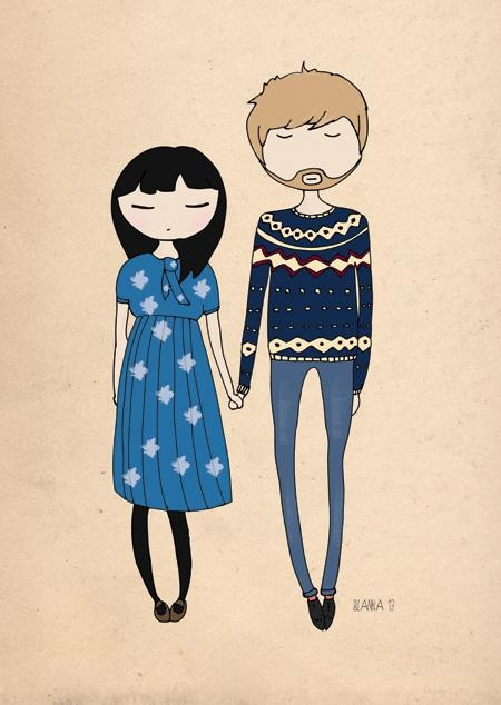 oh my gosh! i LOVE these couple illustraitions by Blanka Biernat Photography and Ilustration! Commission available...