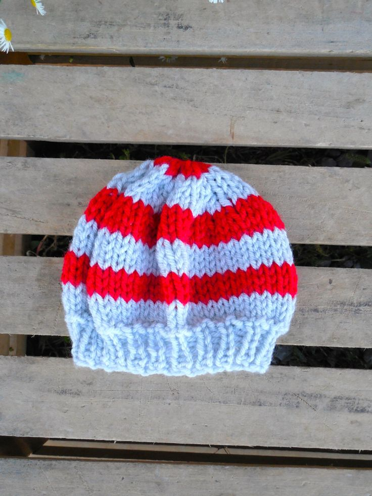 A personal favorite from my Etsy shop https://www.etsy.com/listing/204771797/0-3-mo-knit-striped-baby-hat