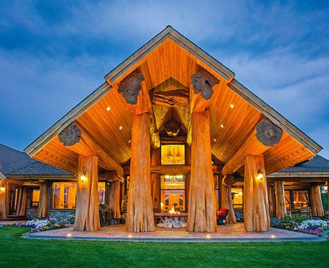 Деревянная усадьба из красного кедра | Деревянные дома ручной рубки | Журнал «Деревянные дома»
