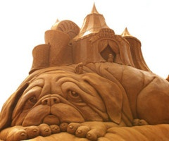 Sand sculpting art.