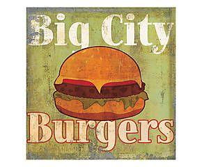Stampa fine art su canvas con telaio in legno Hamburger - 50x50x4 cm