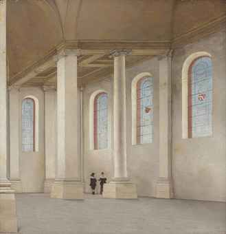 Saenredam. The interior of the Nieuwe Kerk, Haarlem, seen from the south-west