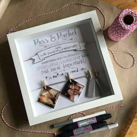Will You Be My Bridesmaid Maid Of Honour Flower Unique Handmade Photo Personalised Frame Gift