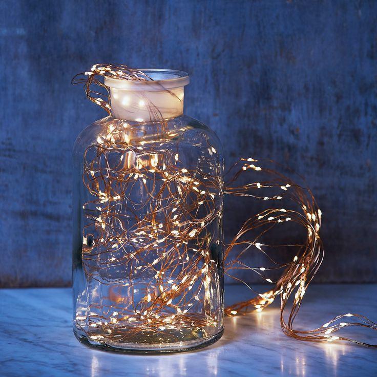 Guirlande Bouquet de lumières - 300 Leds d'un blanc chaleureux pour illuminer votre jardin ou votre maison - 29,95 €