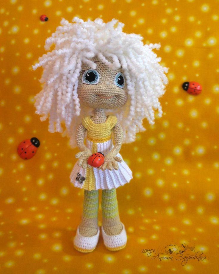Ромашка по описанию Ани Садовской - Мои игрушки - Галерея - Форум почитателей амигуруми (вязаной игрушки)