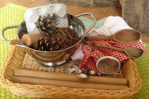 Treasure basket of un-toys for babies