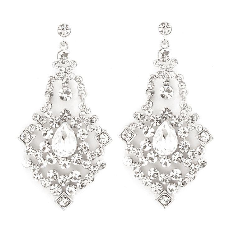Capri Chandelier Earrings in Silver on Emma Stine Limited