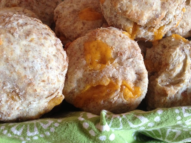 100% Whole Wheat Ham and Cheese Biscuits