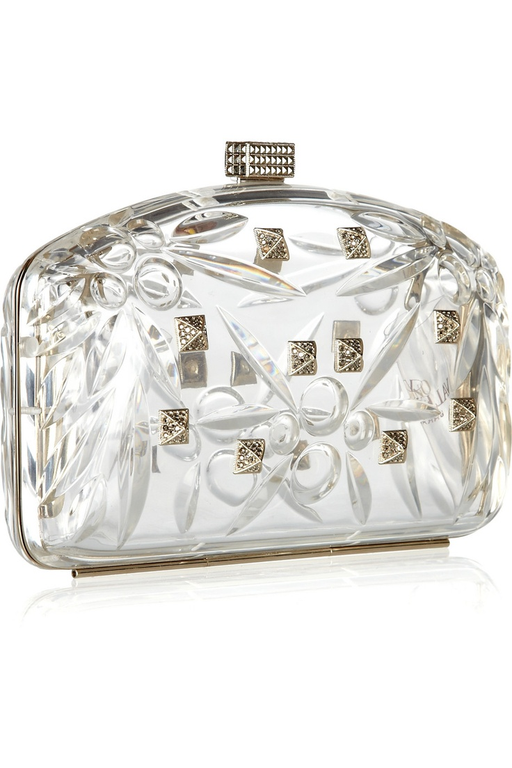 62 Best Champagne Taste Images On Pinterest I Byo Shell Clutch In Matte Burgundy Valentino Crystal Embellished Perspex
