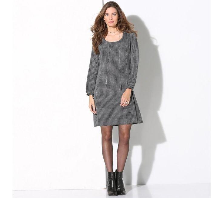 Šaty s potiskem a dlouhými rukávy | vyprodej-slevy.cz #vyprodejslevy #vyprodejslecycz #vyprodejslevy_cz #saty #dress