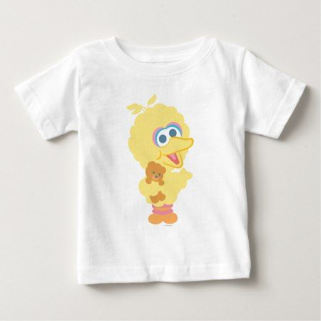 Big Bird Holding Teddy Bear Baby T-Shirt - tap, personalize, buy right now!