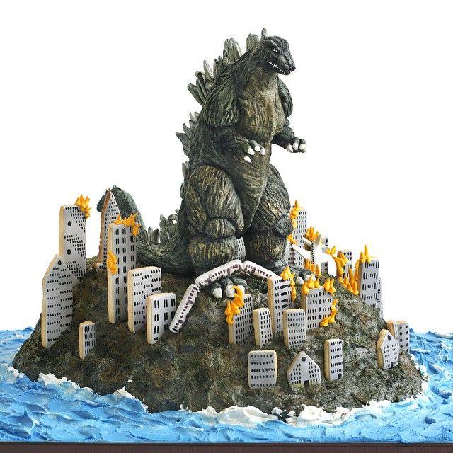 Godzilla Cake Oh My God That Is Soo Cool Cupcakes And