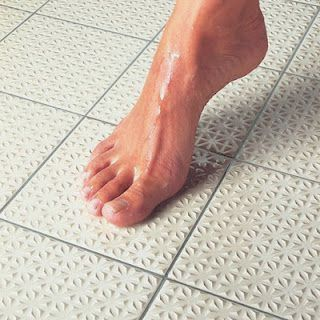 Awesome non slip shower floor tile from Home Depot | Bathroom ...