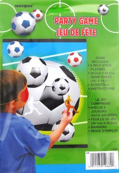 Stick The Player On The Soccer Ball Party Game With Blindfold Up To 8 Players!