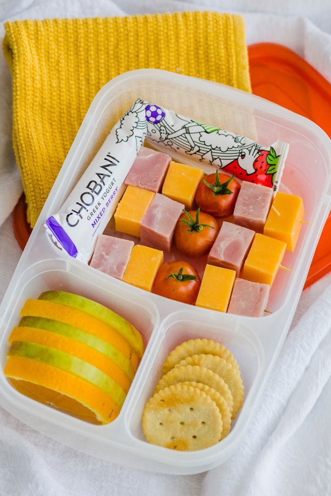 High protein school lunch ideas | DIY lunchables at Easy Lunchboxes