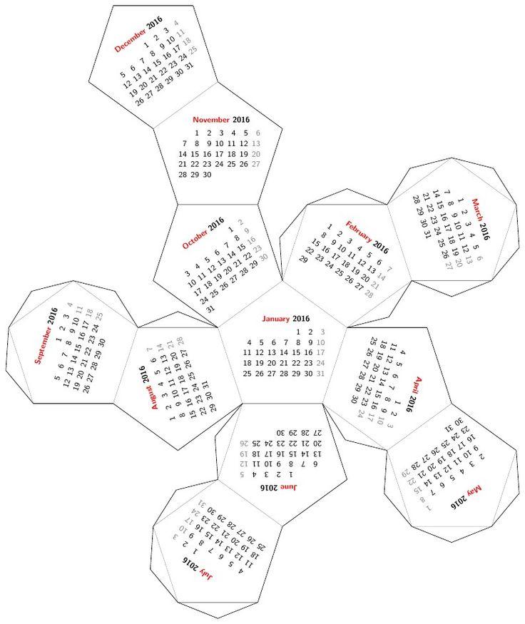 Dodecahedron desk calendar More