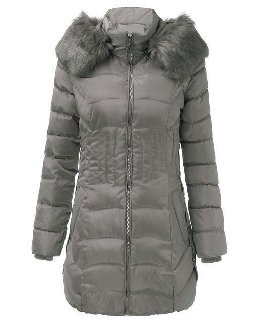 2017 New Winter Brand Ladies Winter Warm Down Coat Women Faux Fur Fleece Collar Hooded Zip Up Overcoat Women Long Jackets L-4XL #coatswomen
