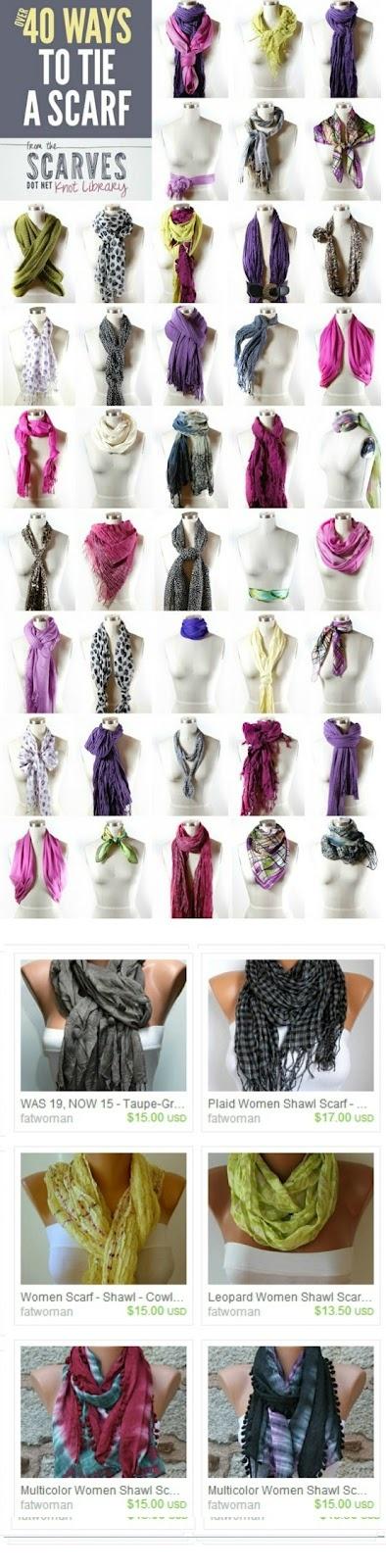 So Many Ways to Tie A Scarf...my Fav. wardrobe accessory in the Fall  Winter!