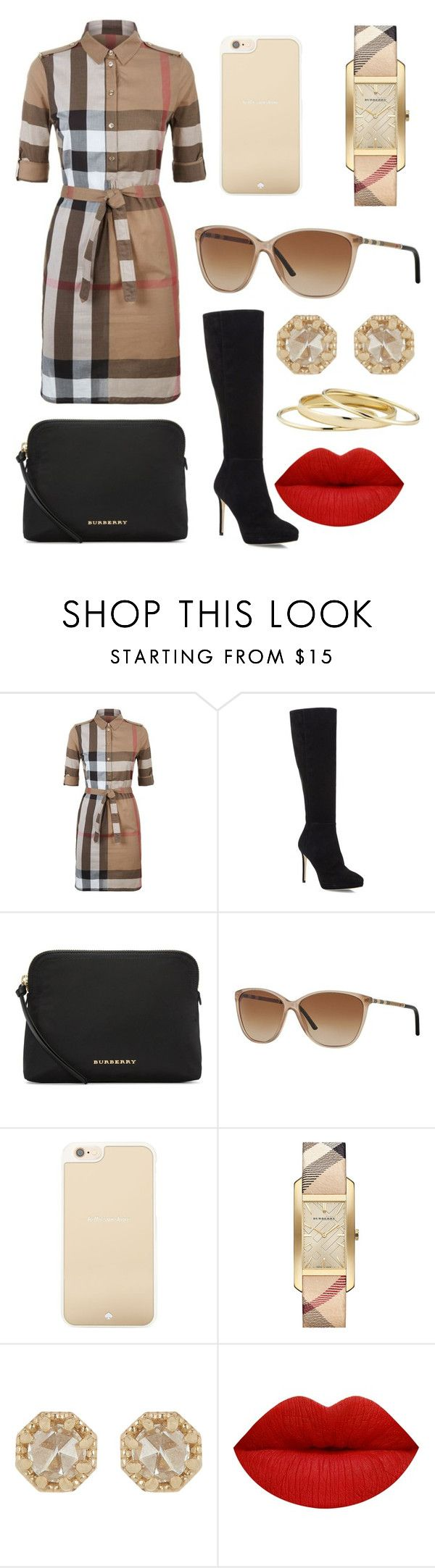 """Burberry Love"" by alphashe on Polyvore featuring Burberry, Jimmy Choo, Kate Spade, Grace Lee Designs and Minor Obsessions"